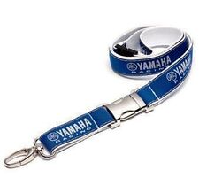 GENUINE YAMAHA RACING BLUE LANYARD NECK BAND KEY CHAIN RING KEYRING