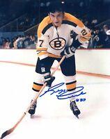 Reggie Leach Autographed 8x10 Boston Bruins Photo NHL