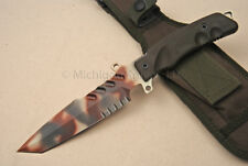 FOX Knife - G2DC Predator 1 Combat Knife w/ N690Co SS - Green Sheath