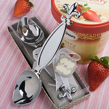 Job Lot of 20 Fleur De Lis Ice Cream Scoops. Wedding Favours. Boxed 4211