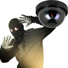 Dummy Fake Surveillance Cctv Security Dome Camera Led Light Flashing Model fuM0H