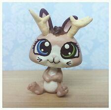 CUSTOM HAND PAINTED Littlest pet shop LPS Hazel jackalope rabbit odd eyes OOAK