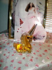 Avon'S Exquisite Glass Unicorn - 1974. Full Charisma Cologne.