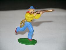 Figurine JIM: COW BOYS TIRE FUSIL, JAMBE LEVÉE, LASSO PANTALON BLEU CLAIR