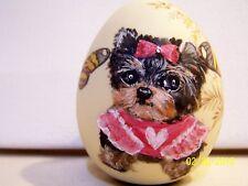 Yorkie Yorkshire Terrier original hand painted  easter egg decor felt bottom