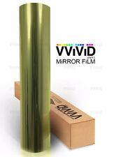One way mirror vision gold window film 90ft x 5ft VViViD privacy UV reflective