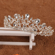 Austrian Crystal Jeweled Queen Tiara Rhinestone Bridal Wedding Pageant Crown NEW