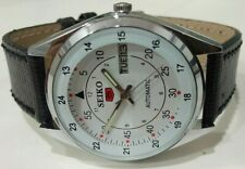 RAILWAY TIME SEIKO 5 DAY DATE AUTOMATIC WHITE COLOR DIAL 6309 JAPAN MADE  WATCH