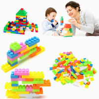 144pcs Plastic Building Blocks Bricks Children Kids Educational Puzzle Toy Sets