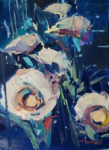 JOSE TRUJILLO Oil Painting IMPRESSIONISM Contemporary COLLECTIBLE FLORAL FLOWERS