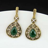 New Fashion Women Lady Elegant Crystal Vintage drop dangle Ear Stud Earrings