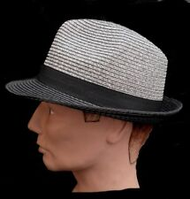 Trilby Unisex Straw Hat Squeezable Garden Party Club Holiday Summer Sun