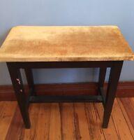 "Vintage Organ Piano Bench Slanted Seat Dark Wood 23""h x 24""L x 12""d Angled"