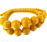 beautiful Art Deco Collier Kette Bakelit egg yolk bakelite necklace 20er 30er
