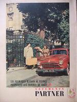 PUBLICITÉ DE PRESSE 1951 PARTNER VÊTEMENTS DE LUXE POUR LES HOMMES DE GOUT