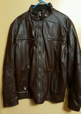 Robert Phillipe - Men's Brown Vegan Leather - Size XL - New w/o Tags