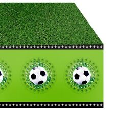Fussball Tischdecke, grasgrün zur Fussballparty, 1,3m x 1,8m, Fußball-Dekoration