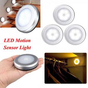 2x 6 LED Wireless PIR Auto Motion Sensor Infrared Night Light Cabinet Stair Lamp