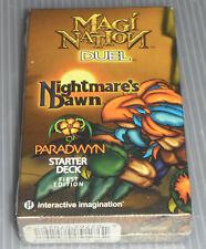 Magi-Nation Brand New Sealed 1st Edition Nightmare's Dawn Paradwyn Starter Deck