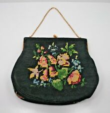 VINTAGE JOLLES ORIGINAL NEEDLEPOINT EVENING BAG/PURSE