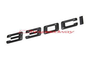 For BMW E46 3-Series 330Ci Matte Flat Black Lid Trunk Emblem Decal Letters Badge