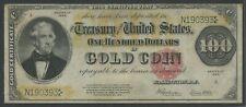 FR1215 $100 1922 GOLD NOTE (VF+) WLM9087