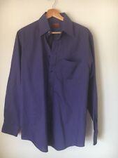 """Chemise violet taille 15"""" polyester-coton à manches longues BURTON < T13976"""