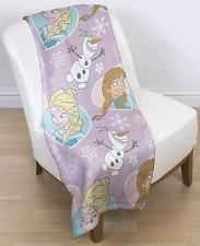 (c.sh) Character World Frozen Rotary Fleece Blanket Crystal 120 x 150 cm