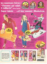 PUBLICITE DE PRESSE extraite d'un magazine de 1977. L'HOMME 3 MILLIARDS /JAIMIE