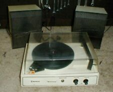 Beautiful Vintage Emerson MUSTANG Record Player with Speakers