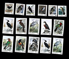 Zambia  1987   birds ,SCOTT No.377-392 , I202003