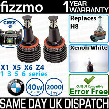FIZZMO BMW H8 40w using CREE LED ANGEL EYE HALO RING BULB XENON WHITE NO ERROR
