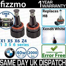 FIZZMO BMW H8 40w CREE LED ANGEL EYE HALO RING LIGHT BULB XENON WHITE ERROR FREE