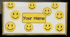 Smiley Face checkbook cover personalized