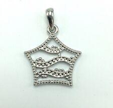 "SOPHIA FIORI 7/8"" Silver-Tone Metal Studded Star Necklace Pendant"