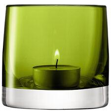 LSA Light Colour Tealight Holder H8.5cm - Olive
