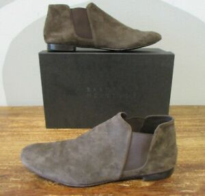 BARNEYS NEW YORK $350.00 CARLY SUEDE TABO TAUPE Chelsea Ankle Booties EU40