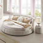 Klassische Rund Betten - Rundes Luxus Designer Bett Polster Elegant Leder Velvet günstig