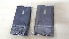 KIT 2X COVER CUSTODIA SILICONE TPU CASE PER NOKIA LUMIA 800 N9 NERO GRIGIO SMOKE