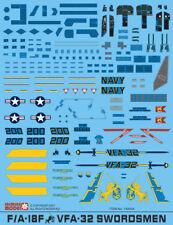 148004 Jasmine Model 1/48 F/A-18F Super Hornet VFA-32 Swordsmen waterslide decal