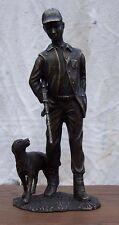 Bronzefigur,Jäger mit Hund,Skulptur,Dekoration *