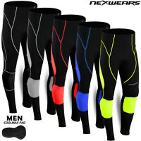 Mens Cycling Tights Coolmax Compression Padded Bicycle Bike Legging Trouser Pant