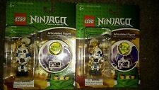 2 LEGO NINJAGO ARTICULATED SKULL FIGURE CLIP ON WITH SOUND