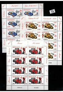 // 8X MONACO - MNH - SPORTS - SPORTCARS - FERRARI - 2001
