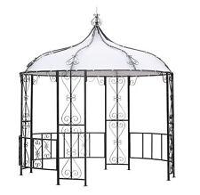 Pavillon Metall Gartenpavillon Pavillion BURMA 300cm rund wasserdicht weiß