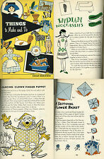 THINGS to MAKE and DO 125 Arts Crafts Paper Craft Projects Child Horizons 1961