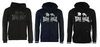 Men's Lonsdale Full Zip Hoodie Jumper Sweater Zippy Black Navy Grey S M L XL 2XL