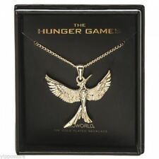 Hunger Games Mockingjay 14K Gold Plated Boxed Necklace Officially Licensed NEW