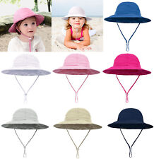 Toddler Infant Baby Girl Boys Outdoor Bucket Hat Summer Wide Brim Sun Beach Cap