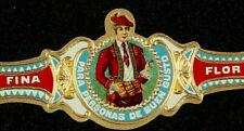 548AzC-VITOLA Vitola-Cigar Band-Marca FLOR FINA, PARA PERSONAS DE  BUEN GUSTO,